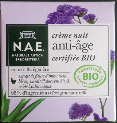 crème nuit anti-âge bio - Produit - fr