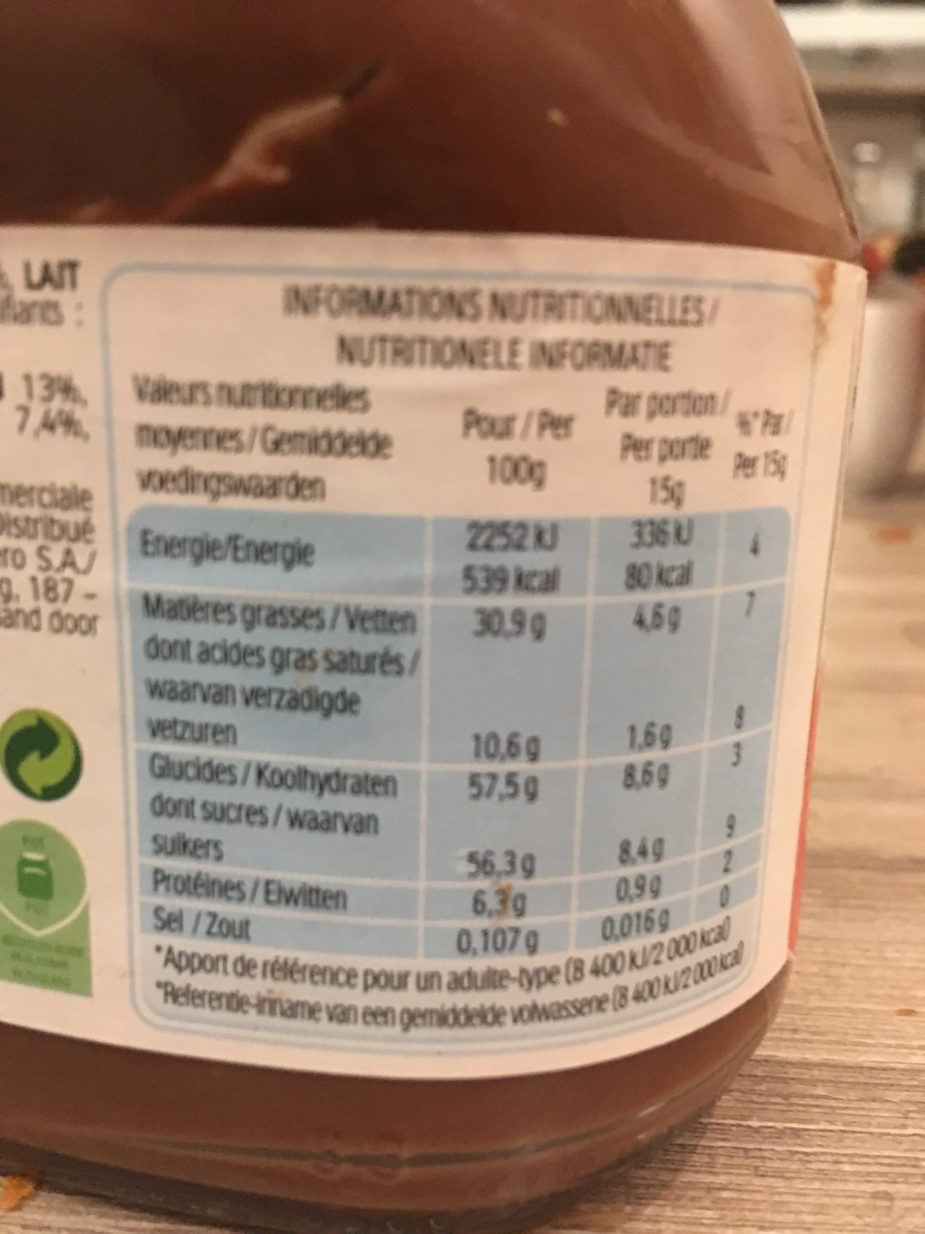Vaisselle MIR - Ingredients - fr