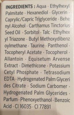 Soin de jour hydratant PH5, peaux sèches et sensibles - Ingrédients