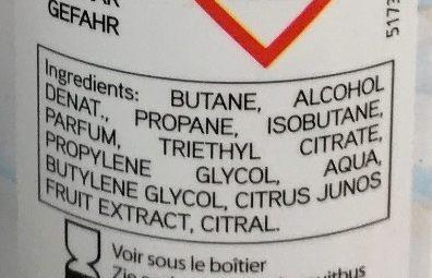 Déodorant fraîcheur 24h - Ingredients - fr