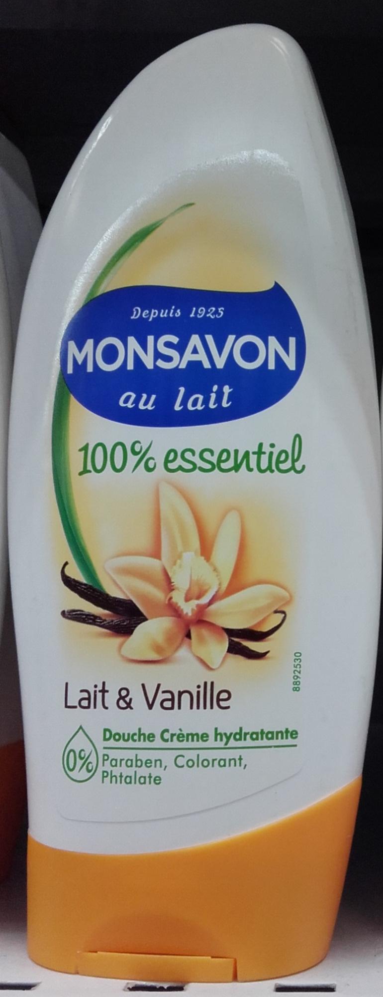 100 % essentiel Douche crème hydratante Lait & Vanille - Produit