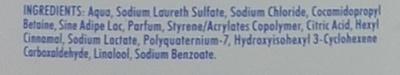 100 % essentiel Douche crème hydratante Lait & Vanille - Ingrédients