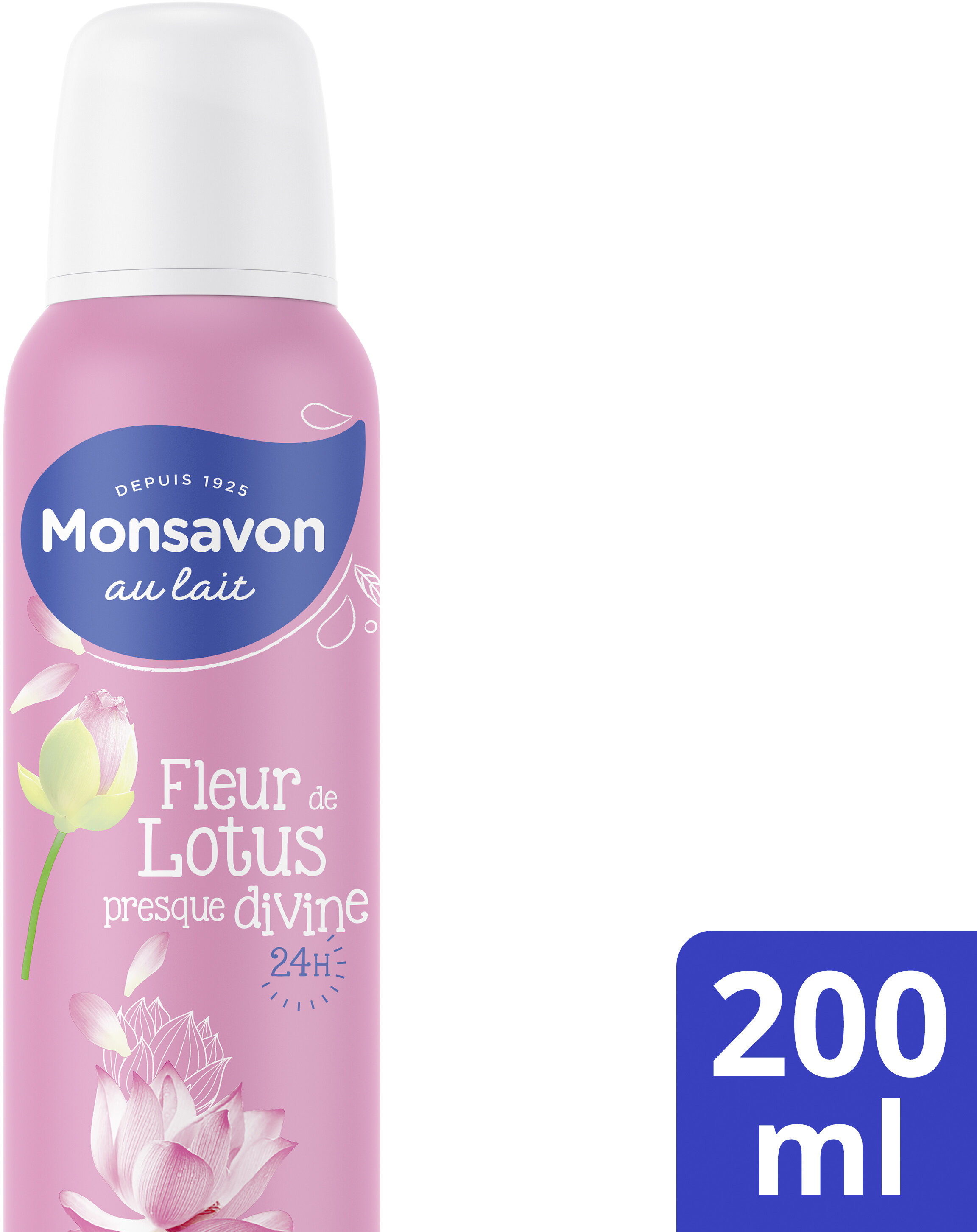 Monsavon Déodorant Femme Spray Antibactérien Pierre d'Alun Lait & Fleur de Lotus - Продукт - fr