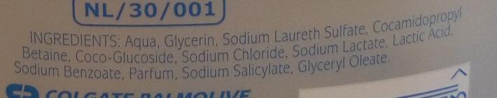 Zero 0% Gel douche Peaux sèches - Ingredients - fr