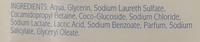 Zero % Gel douche peaux sèches - Ingredients