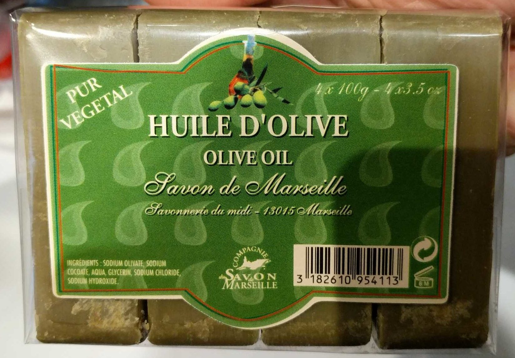 Savon de Marseille Huile d'olive - Produit