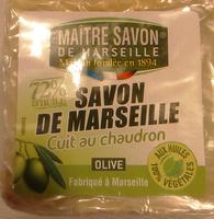 Savon de Marseille cuit au chaudron Olive - Produit