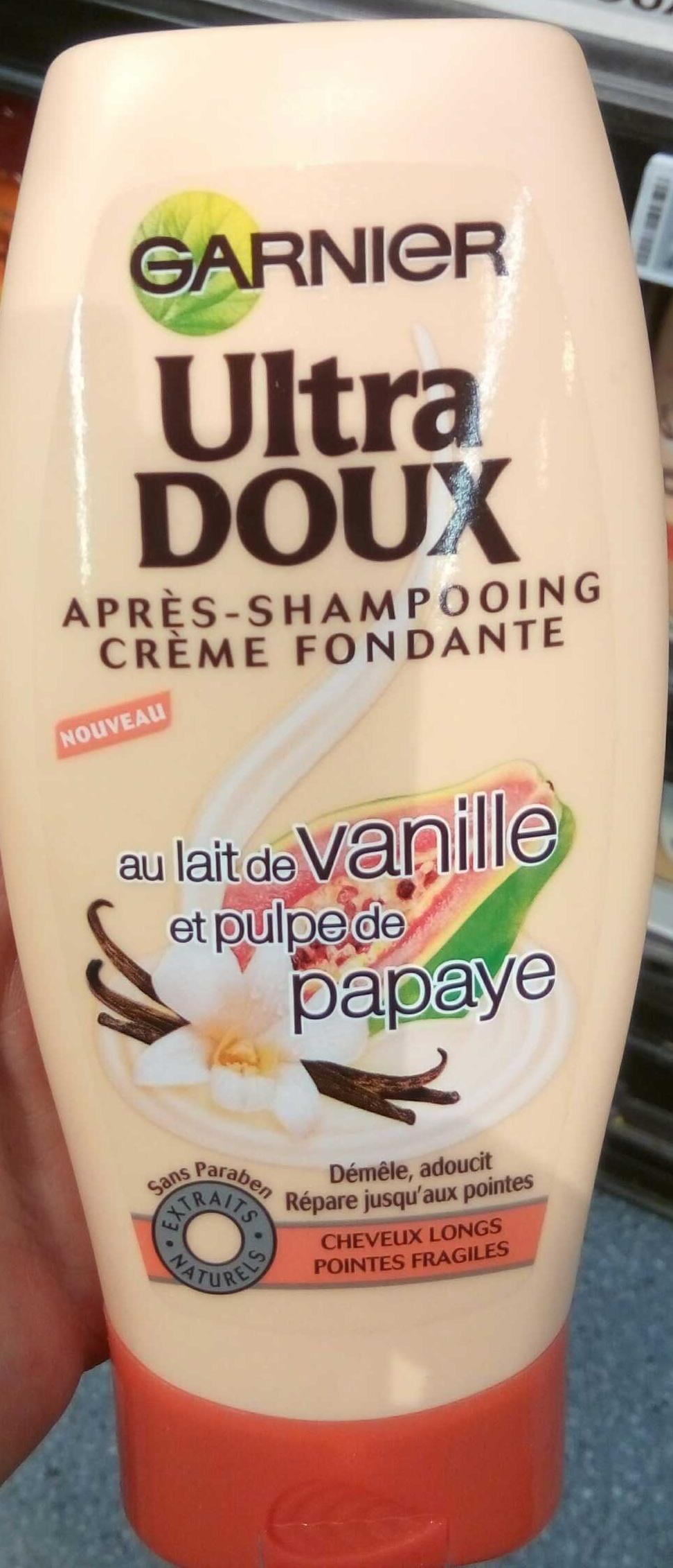Ultra Doux Après shampooing crème fondante au Lait de vanille et pulpe de papaye - Produkt