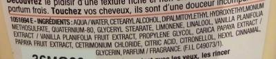 Ultra Doux Après shampooing crème fondante au Lait de vanille et pulpe de papaye - Ingredients