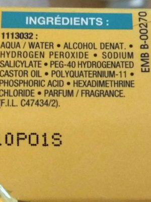 Spray éclaircissant - Ingrédients