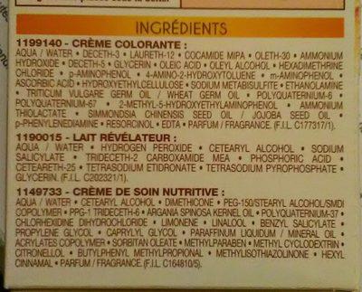 Belle Color - Ingredients