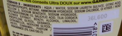 Shampooing à l'extrait de tilleul - Ingredients