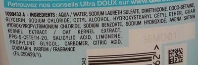 Ultra Doux Shampooing au lait végétal hydratant - Ingredients