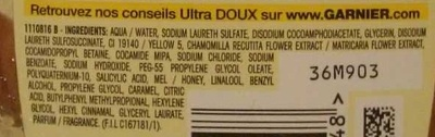 Ultra Doux Shampooing à la camomille et miel de fleurs - Ingrédients