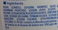 Dentifrice 2 en 1 Blancheur formule micro-particules - Ingrédients - fr