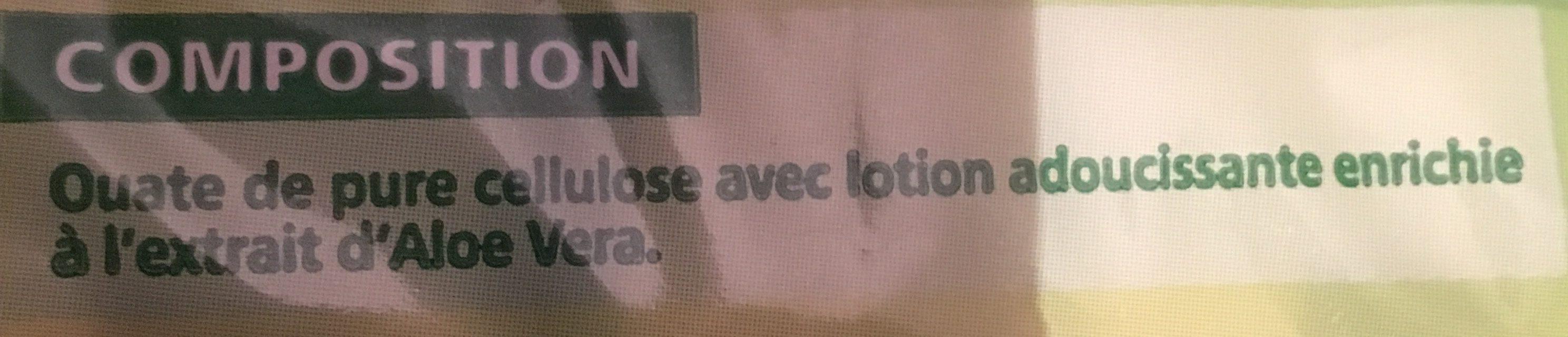 Mouchoirss De Poche à L'aloé Véra - Ingrédients - fr