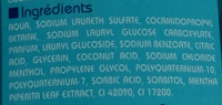 Gel douche corps et cheveux - Ingredients