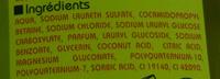Gel douche corps et cheveux Homme - Ingredients