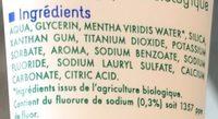 Dentifrice au fluor Fraîcheur - Ingredients - fr