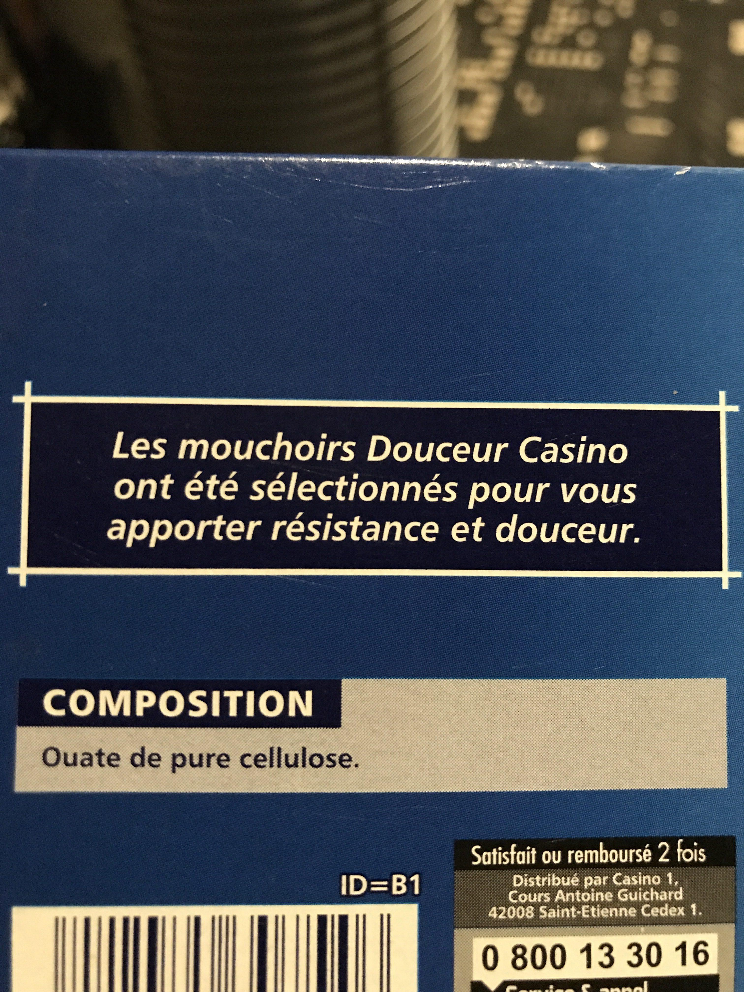Mouchoirs Douceur 3 épaisseurs - Ingrédients - fr