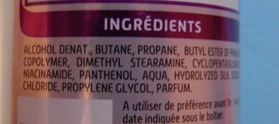 Laque fixation extra forte - Ingredients