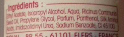 Dissolvant express - Ingredients
