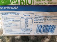 Pain complet 3 cereales - Product - fr