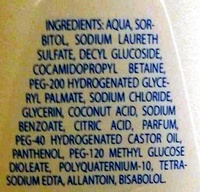 Gel lavant Corps et Cheveux - Ingredients - fr