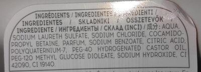 cosmia men shampooing douche sport - Ingredients - fr