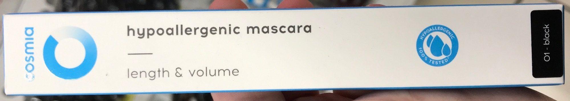 Mascara hypoallergénique Noir 01 - Produit