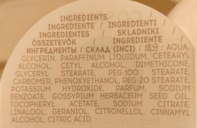 crème visage et corps hydratant - Ingredients - fr