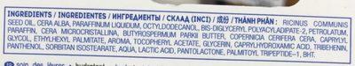 Soin des lèvres hydratant - Ingrédients