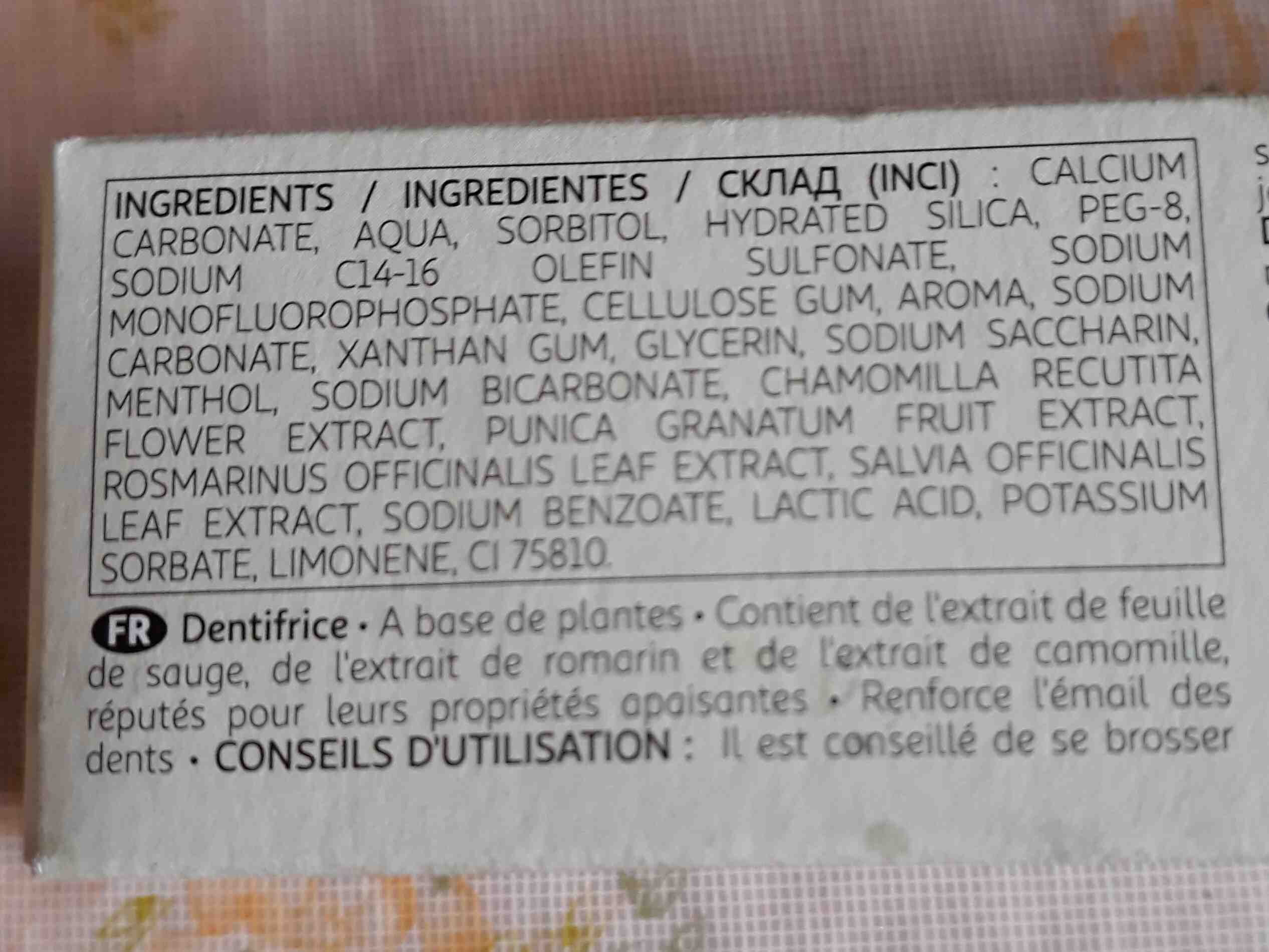 HERBAL Dentifrice de plantes - Ingredients - en