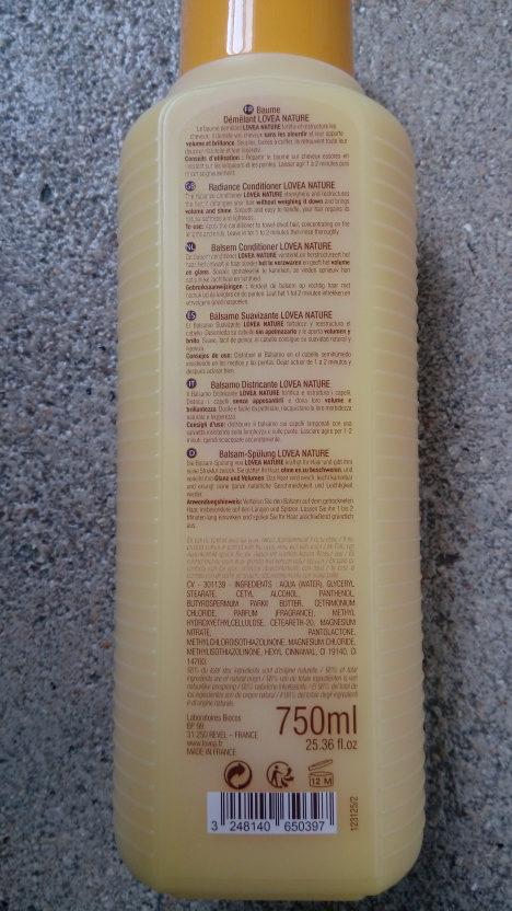 Baume Démêlant Après-Champooing Volume Brillance - Ingredients - fr