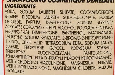 Shampooing 2 en 1 - Ingredients