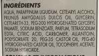 Lait de toilette - Ingredients