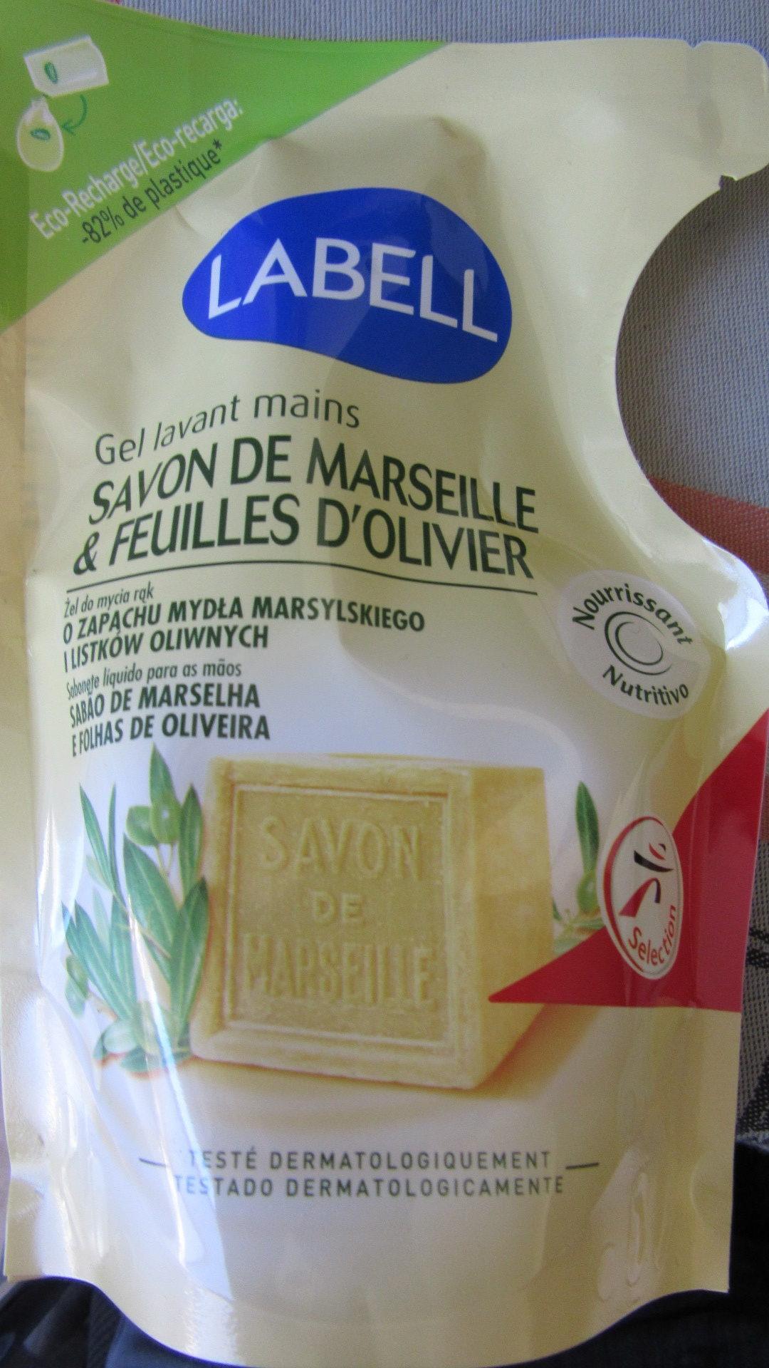 Gel lavant mains Savon de Marseille & Feuilles d'olivier - Produit