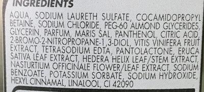 Shampooing extra doux Raisin & Sels minéraux cheveux gras - Ingredients - fr