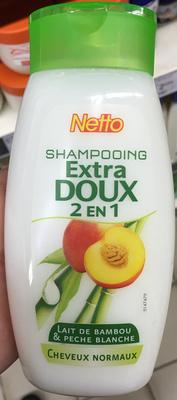 Shampooing extra doux 2 en 1 Lait de bambou & Pêche blanche - Product