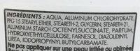 Déodorant anti-transpirant 24H Thé Blanc - Ingrédients - fr