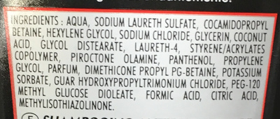 Shampooing antipelliculaire - Ingredients