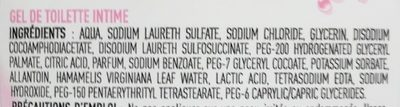 Gel de toilette intime à l'eau d'hamamélis - Ingredients - fr