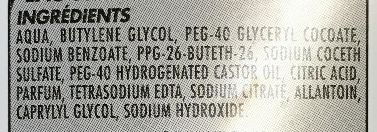 Eau nettoyante très douce - Ingredients