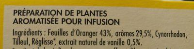 Cotterley Infusion parfum poire vanille les 25 sachets de 1,5 g - Ingredients - fr