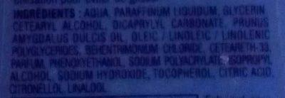 Lait corps sous la douche - Ingredients