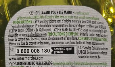 gel lavant main - Ingredients