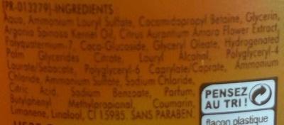 Douche Huile de soin Nutrition - Ingredients