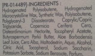 Baume lèvres Réparation - Ingredients