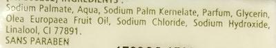 72% Extra Pur à l'Huile d'Olive - Ingrédients - fr