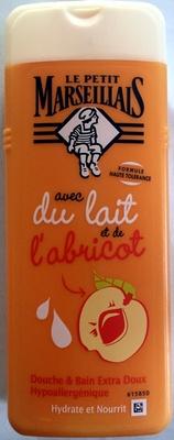 gel douche avec du lait et de l'abricot - Produit